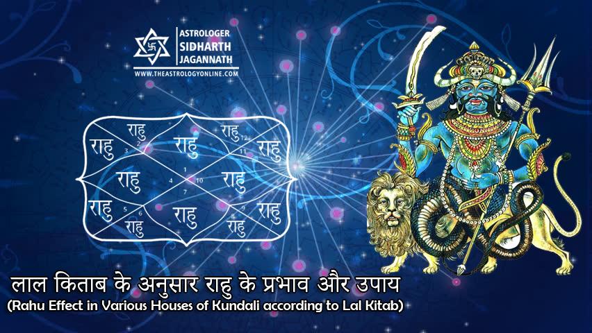 लाल किताब के अनुसार राहु के प्रभाव और उपाय (Rahu Effect in Various Houses of Kundali according to Lal Kitab)