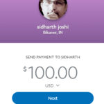 Paypal payment to Astrologer Sidharth