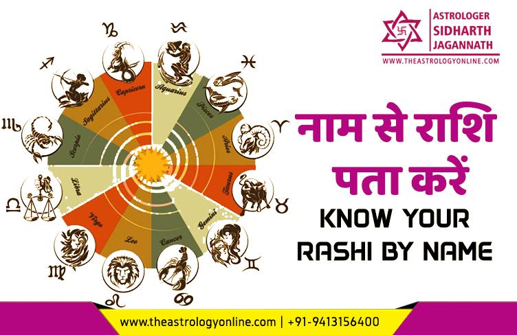 know your rashi by name नाम से राशि पता करें