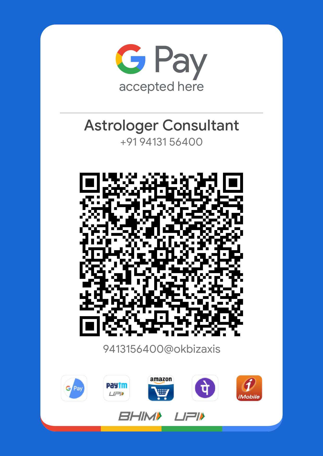 G Pay To Astrologer Sidharth